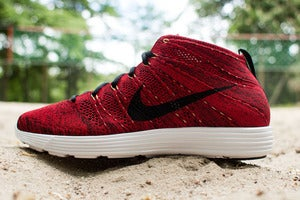 Image of Nike - Lunar Flyknit Chukka (red/ black)