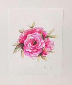 Image of CUSTOM WATERCOLOR FLORAL | ORIGINAL PAINTING