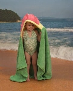 Image of Flower Hooded Towel - Children's Size
