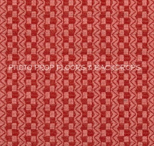 Image of *ON SALE* Jessy's Red Basket Weave Sweater Knit Fabric for Backdrops or Bean Bag Covers - 2 YARDS