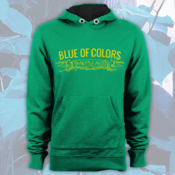 Image of Blue of Colors<br>'Small Little Pieces'<br>Hoodie (Kelly Green)