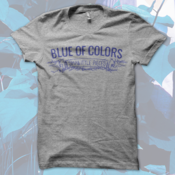Image of Blue of Colors<br>'Small Little Pieces'<br>T-Shirt (Tri-Athletic Grey)