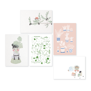 Image of Pots & Paper postcard set 5 pcs