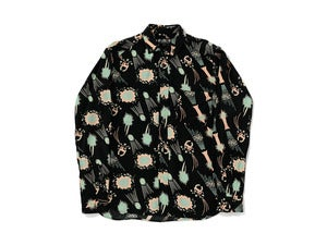 "Image of bal ""NO.T.V. SKETCH RAYON BD SHIRT"" / Black"