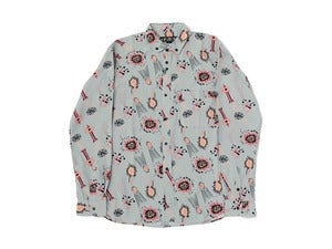 "Image of bal ""NO.T.V. SKETCH RAYON BD SHIRT"" / Gray"