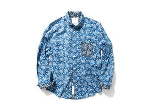 "Image of DeMarcoLab ""PAISLEY L/S SHIRT"" / Blue"