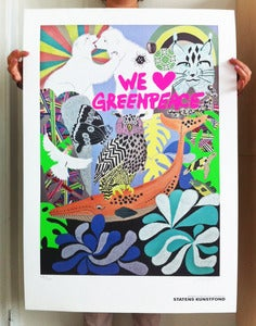 Image of Greenpeace print - We Love Greenpeace