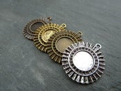 Image of New 12mm Ornate Round Pendant Trays