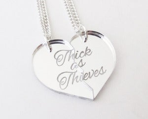 Image of Thick as Thieves Necklace Set - Silver