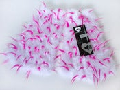 Image of Spiked fluffies uv white/neon pink