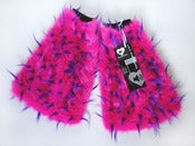 Image of Spiked fluffies pink/purple