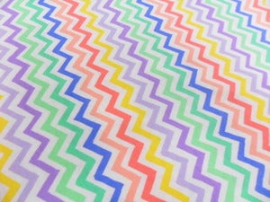Image of Spring Chevrons (8 Colors) on Cotton Jersey - Per 2 Yards, Shipped Price