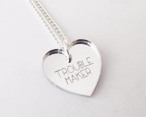 Image of Troublemaker Necklace - Silver