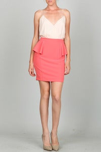 Image of Strawberries and Cream Peplum Dress