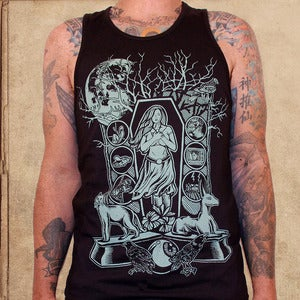 Image of American Gods - tank top - discharge inks - only 18 of them