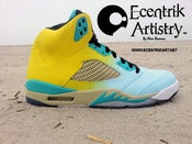 "Image of ""Sandy Beach"" Jordan V Custom"