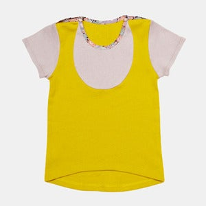 Image of Bib T- Shirt - Yellow+Grey