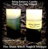 "Image of 6"" Balancing Energy Pillar Candle Witch Made by Lady Abigail"