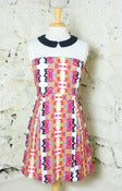 Image of Collared Tribal Pleated Dress