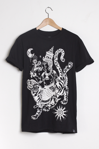 T-shirt design Tiger Rider - Black