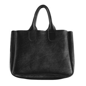 Gretel Tote - Black Vegetable Tan