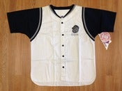 Image of Vintage Deadstock Georgetown Hoyas White Navy Baseball Jersey Apex 1