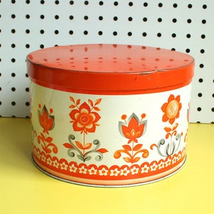 Image of Vintage Floral Cake Tin - SOLD