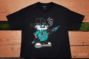 Image of Cukui x True: Sammy the Seal Tee - Black