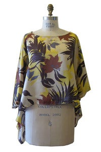 Image of Square Top in Silk Hawaiian