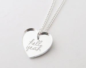 Image of Hell Yeah Necklace - Silver