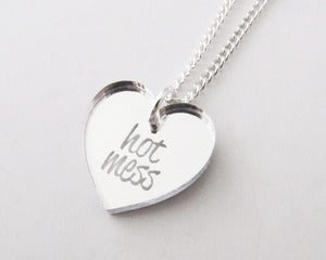 Image of Hot Mess Necklace - Silver