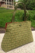Image of Ruby Tote  double pockets fabulous green
