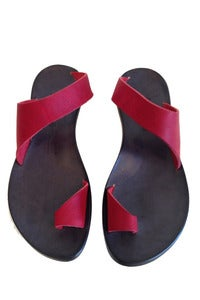 Image of CYDWOQ Thong Sandal in Red