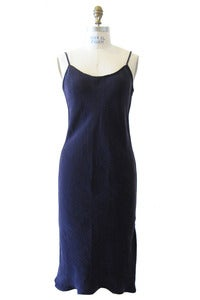 Image of Bias Slip Dress in Eggplant