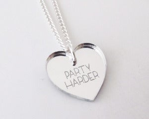 Image of Party Harder Necklace - Silver