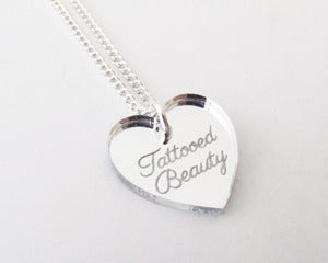 Image of Tattooed Beauty Necklace - Silver