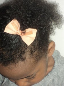 Image of faux suede luxe bow