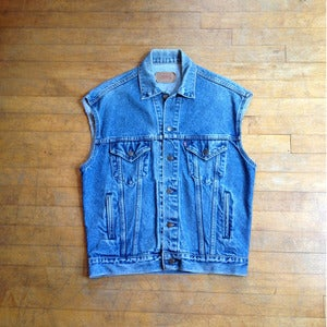 Up-cycled Levis Denim Vest - Lightweight