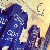 "Image of ""Child of God"" Unisex Blue Tee"