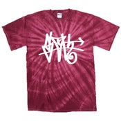 Image of Red Tie-Dye SLOTH Tag