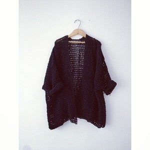 Image of Crochet Jacket | Black