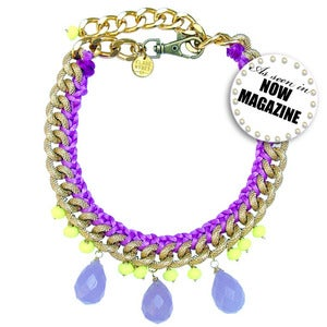 Image of *NEW* Jia Necklace (purple & yellow)