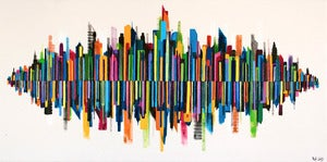"Image of ""Cityscape"" on Canvas 3 Oil on Canvas from Rob Wass AKA Data"