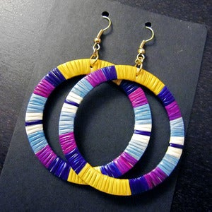 Image of Large Quill Hoop Earrings (More Colors)