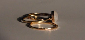 Image of 14K gold filled stack/stacking/stackable moonstone rings-set of 3 sizes 4,5,6,7,8,9,10,half avail
