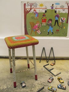 "Image of tabouret ""assise au crochet"""