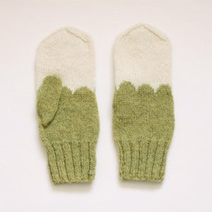 Image of Granliden Mittens: Lichen/Light Green