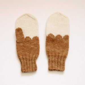 Image of Granliden MIttens: Lichen/Light Brown
