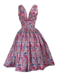Image of Liberty Beths flowers print tea dress