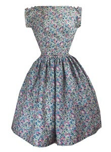 Image of Liberty Claire Aude print tea dress
